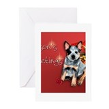 Funny Australian cattle dog christmas Greeting Cards (Pk of 20)