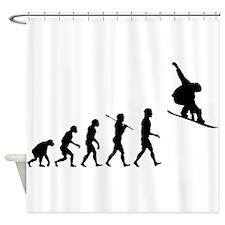 Snowboard Grab Evolution Shower Curtain