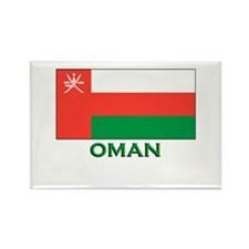 Oman Flag Gear Rectangle Magnet