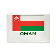 Oman Flag Gear Rectangle Magnet