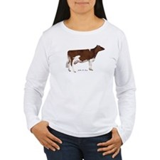 Red and White Holstein Cow T-Shirt