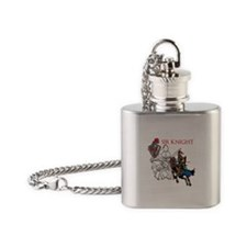OYOOS Sir Knight design Flask Necklace