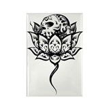 Lotus Skull Rectangle Magnet