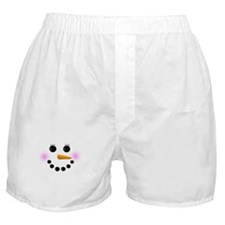 Snow Woman Face Boxer Shorts