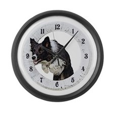 Cute Breed Large Wall Clock