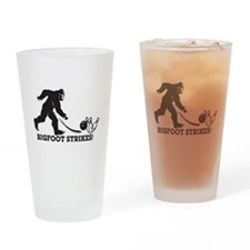 Bigfoot Strikes! Drinking Glass