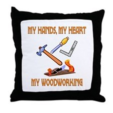 Woodworking Throw Pillow