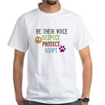 Respect Protect Adopt White T-Shirt