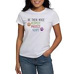 Respect Protect Adopt Women's T-Shirt