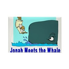 Jonah and the Whale Rectangle Magnet (100 pack)