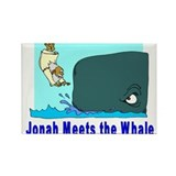 Jonah and the Whale Rectangle Magnet (10 pack)