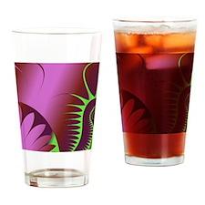 PurpleGreenFrac321.jpg Drinking Glass