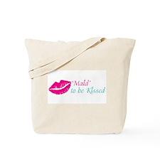Kiss the Maid Bachelorette, Bridal Shower Tote Bag