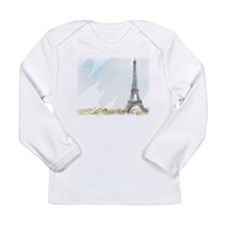 Eiffel Tower Painting Long Sleeve Infant T-Shirt