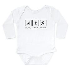 Ice Hockey Long Sleeve Infant Bodysuit