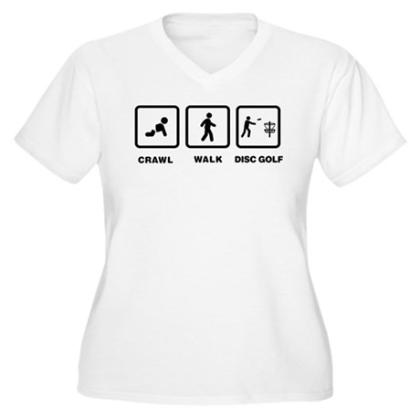 Disc Golfing Women's Plus Size V-Neck T-Shirt
