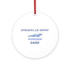 Lil Herper Boy Croc Ornament (Round)