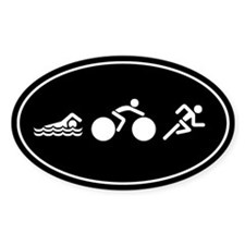 Run Bike Swim Icons Decal