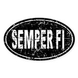 Distressed Semper Fi Auto Decal