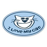I Love My Cat Auto  Aufkleber