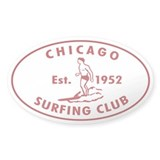 Vintage Chicago Surfing Club Decal