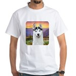 Husky Meadow White T-Shirt