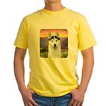 Husky Meadow Yellow T-Shirt