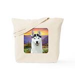 Husky Meadow Tote Bag