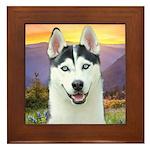 Husky Meadow Framed Tile