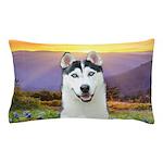 Husky Meadow Pillow Case