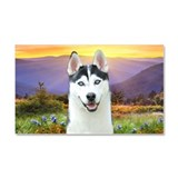 Husky Meadow Car Magnet 20 x 12