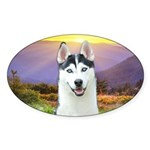 Husky Meadow Sticker (Oval 50 pk)