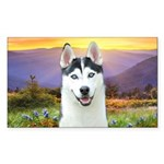 Husky Meadow Sticker (Rectangle 10 pk)