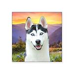 Husky Meadow Square Sticker 3