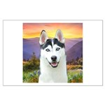Husky Meadow Large Poster