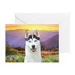 Husky Meadow Greeting Cards (Pk of 20)