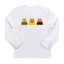 Fall Candy Corn Long Sleeve Infant T-Shirt