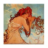 Cute Alphonse mucha Tile Coaster