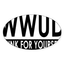 WWUD - Think For Yourself Rectangle Decal
