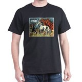 1978 France Horses Painting Stamp T-Shirt