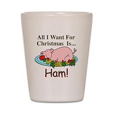 Christmas Ham Shot Glass
