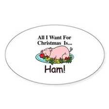 Christmas Ham Decal