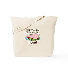 Christmas Ham Tote Bag