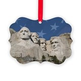 Patriotic Mt Rushmore Ornament