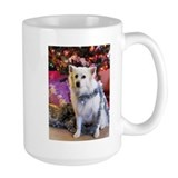 Cute American eskimo christmas Mug