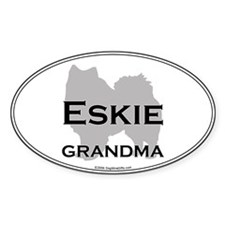 Eskie GRANDMA Oval Decal