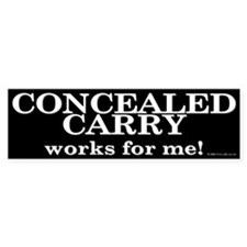 Concealed Carry Bumper Bumper Sticker