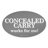 Concealed Carry Oval Decal