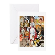nurse collage poster Greeting Cards