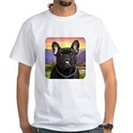 French Bulldog Meadow White T-Shirt